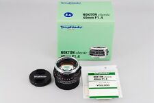 【NEAR MINT IN BOX】VOIGTLANDER NOKTON Classic 40mm F1.4 S.C VM from Japan #226