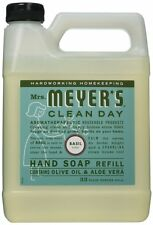 Mrs. Meyers Clean Day Liquid Hand Soap Refill, Basil Scent, 33 Oz .{14461} AOI