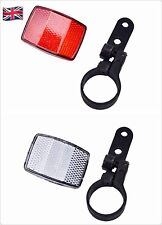Handlebar Mount Safe Reflector Bicycle Bike Front Rear Warning Red+White ST