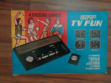 APC TV FUN 1980's television electronic Old School Video 4 games tennis hockey+