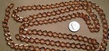 3 Feet 11x9mm large link copper plated steel twist link chain 3 links in  pch028