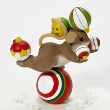 Charming Tails Holidays Can Be a Real Balancing Act Mouse Figure Enesco 4023656