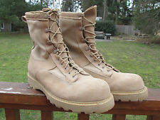 US Military BATES GORETEX INFANTRY COMBAT BOOTS Vibram Steel Toe TAN 12 R  NEW