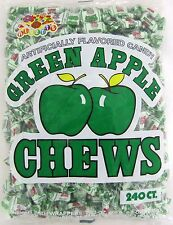 Albert's Green Apple Chews Chewy Candy 240 Count Bag Bulk Candies Alberts Apples