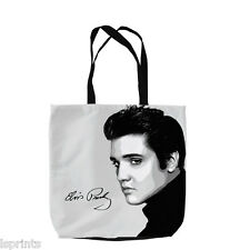 ELVIS FACE DESIGN TOTE BAG SHOPPING BEACH SCHOOL ACCESSORY PRESLEY KING