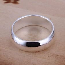 *UK* 925 SILVER MENS / LADIES SIMPLE PLAIN BAND RING WEDDING ENGAGEMENT THUMB