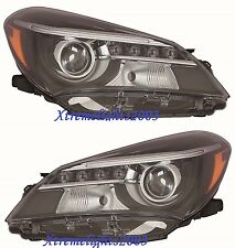TOYOTA YARIS HB 2015-2017 PAIR LEFT RIGHT SE HEADLIGHTS HEAD LIGHTS LAMPS W/LED