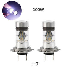 2X H7 100W LED Fog DRL Driving Car Head Light Lamp Bulbs White Super Bright NEW