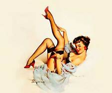 "VINTAGE PINUP GIRL Gil ELVGREN XL CANVAS PRINT Sexy legs in Air 24""X 36"""