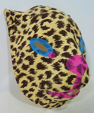 Vintage CHILDREN'S LEOPARD HALLOWEEN MASK (1940's) Collegeville