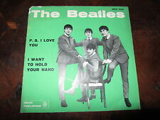 THE BEATLES P.S. I LOVE YOU QMSP 16351 Rare 1964 Italian 45 Blue Label