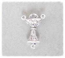 CHALICE Rosary Center 1st First Communion ITALY Rosaries Centerpiece T103 Silver