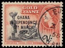 "GHANA 10 (SG178) - Independence ""Cacao Harvest"" (pf69712)"
