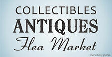 Antiques STENCIL Collectible Paris Flea Market Sale Shabby Cottage Chic Art Sign