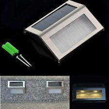 Solar Warm Yellow LED Stair Light