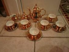 Excellent 17 Piece Royal KM Porzellan Bavaria Germany Gold Tea Set!!!
