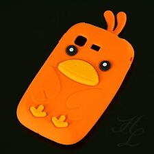 Samsung Galaxy Pocket S5300 Soft Silikon Case Schutz Hülle Etui Chicken Orange