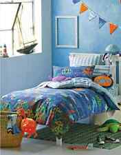 Under the Sea Blue Ocean Boys Kids Double Bed Cotton Doona Duvet Quilt Cover Set
