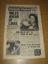 MELODY MAKER 1960 JANUARY 30 MILES DAVIS MARTY WILDE SARAH VAUGHAN HURRICANES +