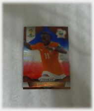 2014 Panini Prizm World Cup Blue Red Wave Didier Drogba - Ivory Coast #60