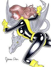 KITTY PRYDE SHADOW CAT OF THE X-MEN ORIGINAL COMIC ART COLOR SKETCH