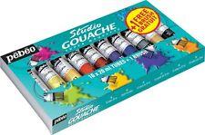 Pebeo Studio Gouache Starter Pack 10 x 20ml Tube Set + 1 Free Brush