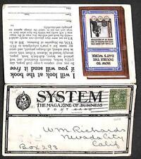 USA PERFIN STAMP ILLINOIS SYSTEM BUSINESS MAGAZINE ADVERTISING POSTCARD 1909