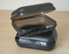 Tupperware Small Packables Case Oyster Shell Style Sheer Black NEW