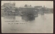 RP Postcard COLUMBUS Ohio/OH  1913 Flood Disaster West from T-OC Railroad Depot