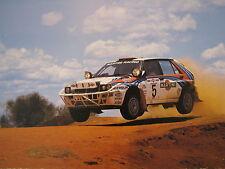 Poster Martini Lancia Delta HF Integrale 1992 #5 Recalde / Christie Safari Rally