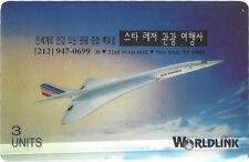 TK Telefonkarte/Phonecard Worldlink 3u Air France Concorde Jet Airplane