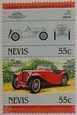 1947 MG (M.G.) TC Car Stamps (Leaders of the World / Auto 100)