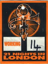 PRINCE 2007 Tour Backstage Pass 21 Nights In London