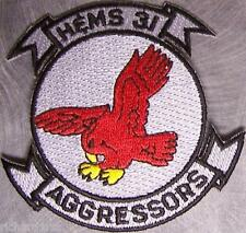 Embroidered Military Patch USMC HEMS-31 Aggressors NEW War Games training unit