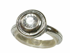 Occasion Female Shablool Silver Ring 925 Sterling Silver White CZ Round White