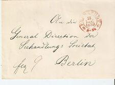 Top Vorphilatelie Beleg Brief Frankfurt -  Berlin von 1859