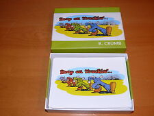 """R Crumb's """" Keep on Trucking """" Notecards (16)  NM"""