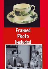 VINTAGE FRANCISCAN IVY CHINA PROP I LOVE LUCY Lucille Ball CUP SAUCER Plate