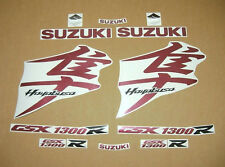 Hayabusa 1340 burgundy decals stickers graphics kit set busa K8 k9 k10 l1 l2 l3