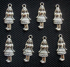 10 Girl Charms Alice in Wonderland/Wizard of Oz 21mm