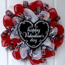 Happy Valentine's Day Heart  Deco Mesh Wreath