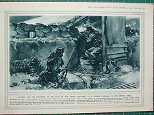 1915 WWI WW1 PRINT ~ WATCHING AT A TRENCH FOR MOVEMENT LOOPHOLE FRENCH LINES