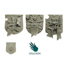 Spellcrow - Space Knights Templar Heavy Large Shields 2 - SPACE BROTHERHOOD BITS