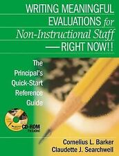 Writing Meaningful Evaluations for Non-Instructional Staff - Right Now-ExLibrary
