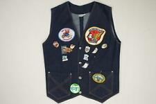 80s Vintage Gold Wing Ding Spring Wing Road Riders Patches Pins Denim Vest S