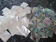 2oz MIX ~ White Mother of Pearl ( MOP ) + Green paua shell Blanks.premium /Inlay