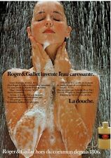 1980 Roger & Gallet ... French Print  Ad : Nude Wowan Shower