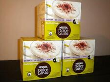 NESCAFE DOLCE GUSTO 48 SKINNY CAPPUCCINO PODS 3 X 16 NEW COFFEE FREE P&P