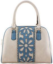 Designer Laser Cut Handbag Blue
