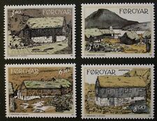 Old houses in Nordragota stamps, 1992, Faroe Islands, SG ref: 231-234, MNH